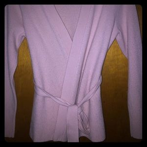 """SOFT BABY PINK """"ANN TAYLOR"""" CARDIGAN SWEATER"""